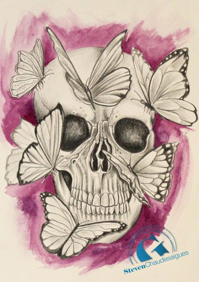 Tatouage crane skull tattoo pictures to pin on pinterest page 2 - Tatouage crane mexicain ...