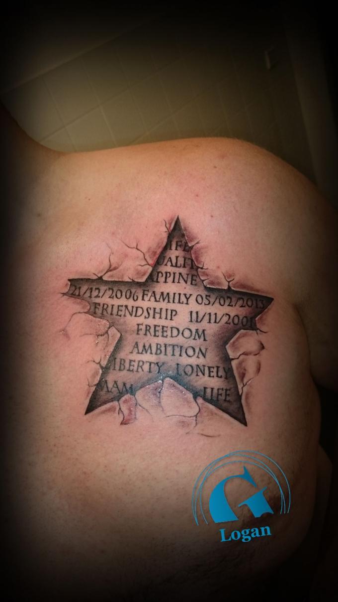 3d tatouage toile galerie tatouage - Signification tatouage etoile ...