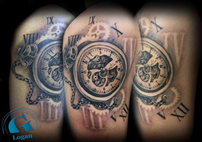 Tatouage montre u00e0 gousset : Graphicaderme