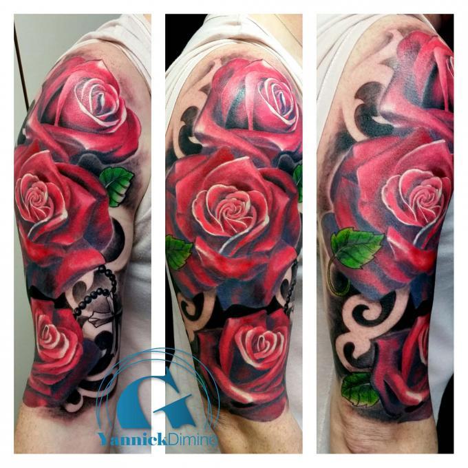 Tatouage rose bras - Tattoo rose bras ...