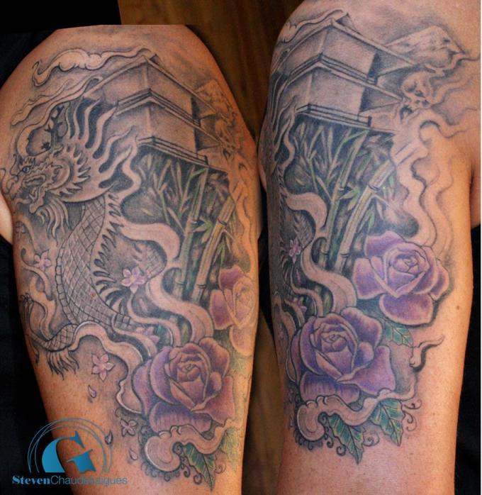 album tatouage asiatique de steven chaudesaigues graphicaderme. Black Bedroom Furniture Sets. Home Design Ideas