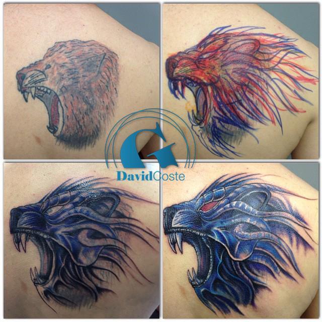 Le recouvrement du tatouage d abdel par david coste for Recouvrement pour galerie