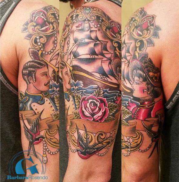 Les tatouages de notre tatoueuse parisienne barbara rosendo graphicaderme - Tatouage avant bras homme old school ...