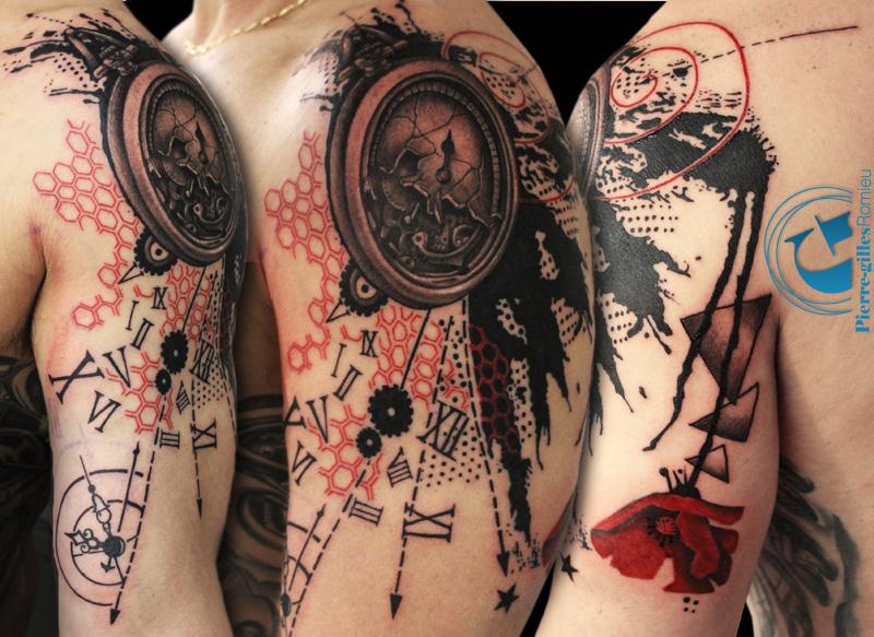olivier son tatouage graphique sur le bras de l. Black Bedroom Furniture Sets. Home Design Ideas